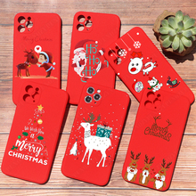 PUNQZY Merry Christmas Soft TPU Phone Case For iPhone 11 12 PRO MAX XR XS 8 6 7 PLUS 5s Santa Claus Christmas Tree Elk Red Cover
