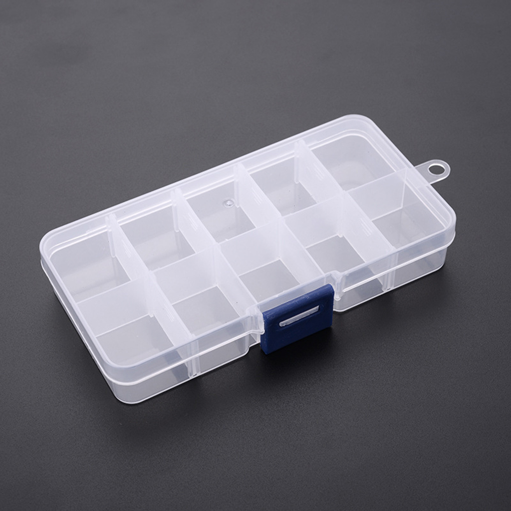 10 Compartment Storage Box Practical Adjustable Plastic Case For Bead Rings Jewelry Display Organizer
