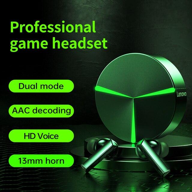 original Lenovo GM1 TWS Game headphones bluetooth 5.0 Wireless headset waterproof Low latency E-sports earplugs/ Android and iOS 6