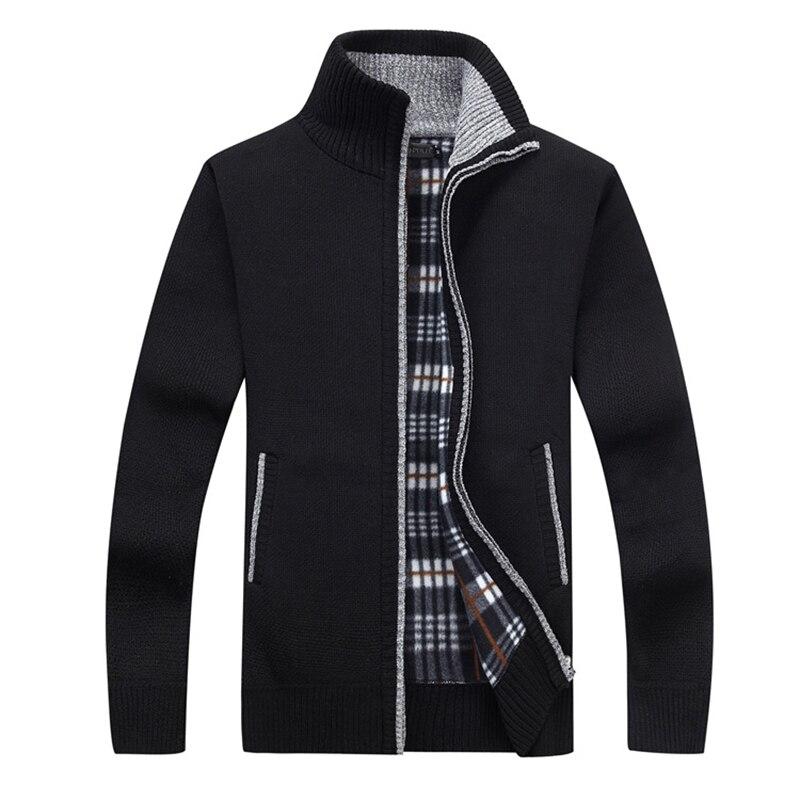 New4xl 5xl Men's Fleece Sweat Persistence Autumn Winter Winter Warm Cashmere Slim Fat Wool Dress Zip Casual Sweater Men's Knit