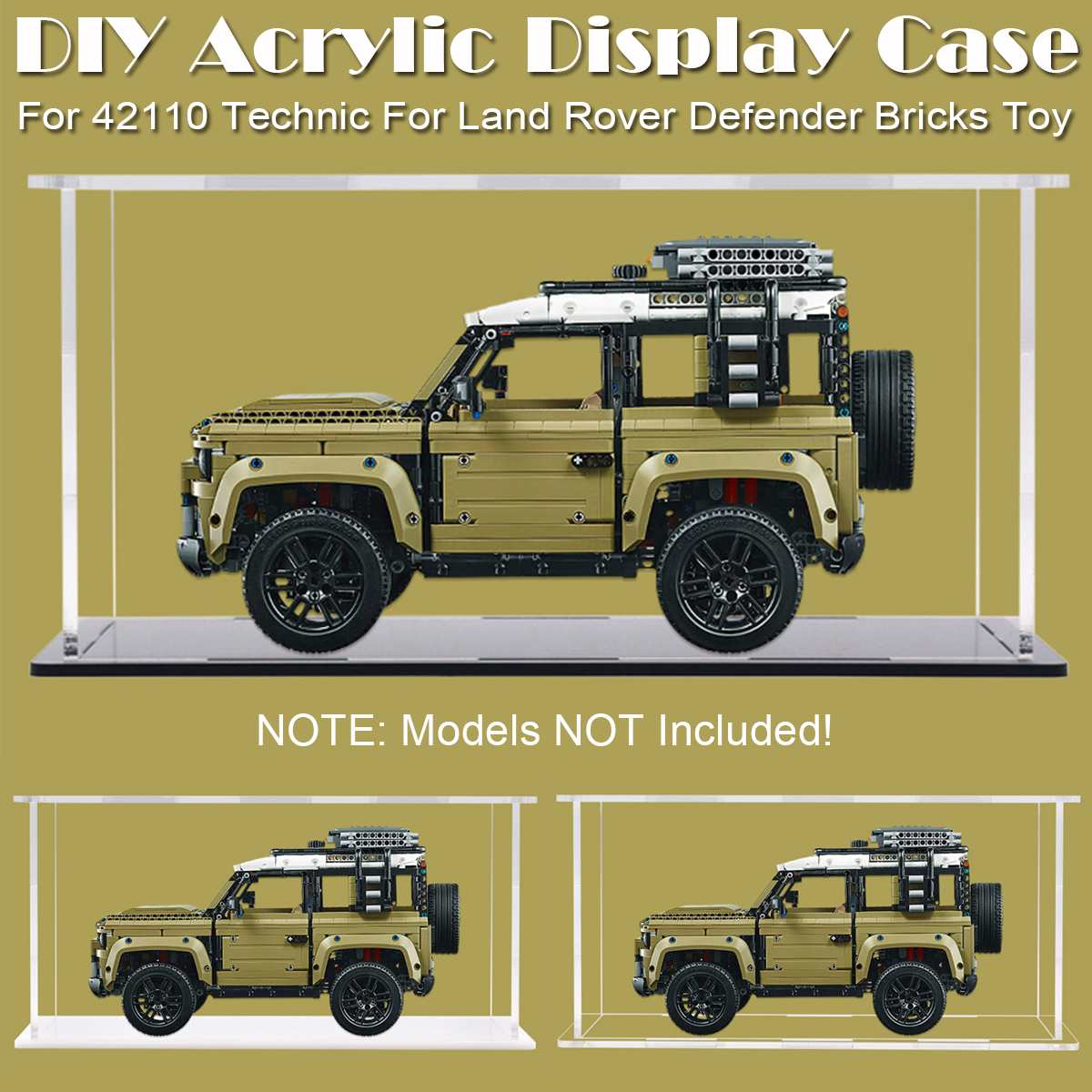 DIY Acrylic Display Case  for 42110 Technic for Land Rover Defender Blocks Toy (Model Not  Included) Display Case