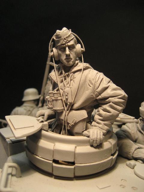1/16 樹脂フィギュアタンクドライバ兵士未塗装と組立キット 1639D