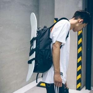 Image 2 - Unisex Zaino Borsa In Tessuto Oxford Doppio Rocker Borse di Skateboard Gli Amanti Dello Zaino Borse Nero Studenti Borse