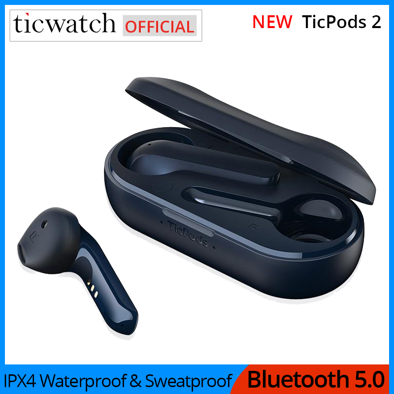 Ticwatch TicPods 2 TWS Kopfhörer Qualcomm QCC3026 IPX4 Wasserdichte & Sweatproof <font><b>Bluetooth</b></font> 5,0 aptX <font><b>Noise</b></font> <font><b>Cancelling</b></font> Lade Fall image