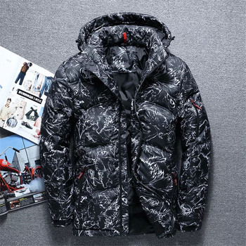 2019 Winter Men's Outdoor Thickened Down Jacket Men's Short Slimming Jacket Youth Trend Clothing  Duck Down Jacket Men Warm