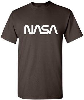 Robak przestrzeń NASA grafika nowość zabawna koszulka 5XL brązowa tanie i dobre opinie Podróż TR (pochodzenie) Cztery pory roku Z okrągłym kołnierzykiem SHORT normal COTTON Na co dzień Znak
