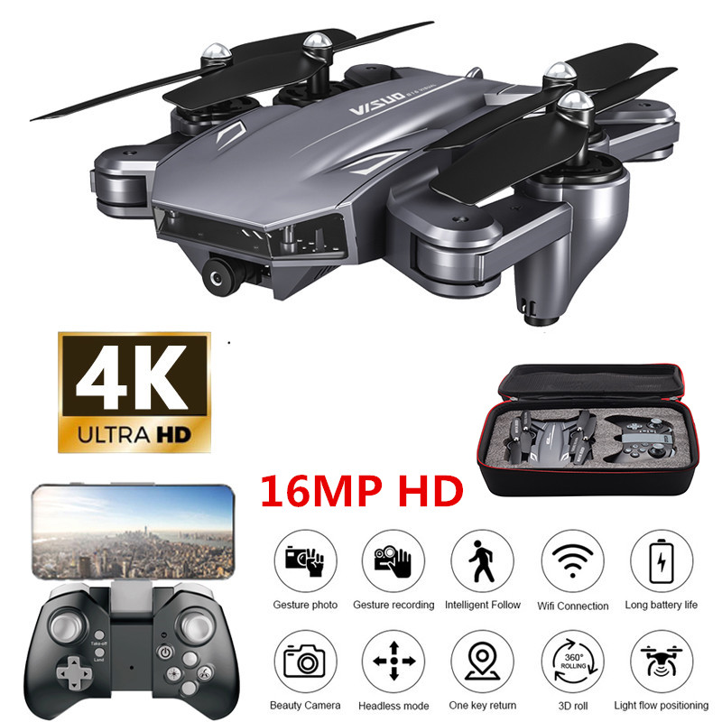 Profession Drone 4K With Camera HD Helicopter WiFi FPV Optical Flow Positioning Foldable Dual Camera Selfie Drone RC Quadcopter
