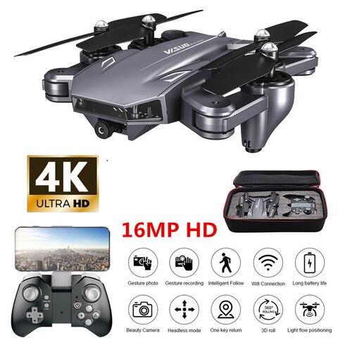 Posicionamento de Fluxo 4k com Câmera Profissão Helicóptero Drone Wi-fi Fpv rc Quadcopter Óptico Dobrável Dual Câmera Selfie hd
