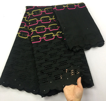 black swiss voile laces switzerland african dry cotton lace fabric 2020latest dubai fabric for wedding nigerian lace