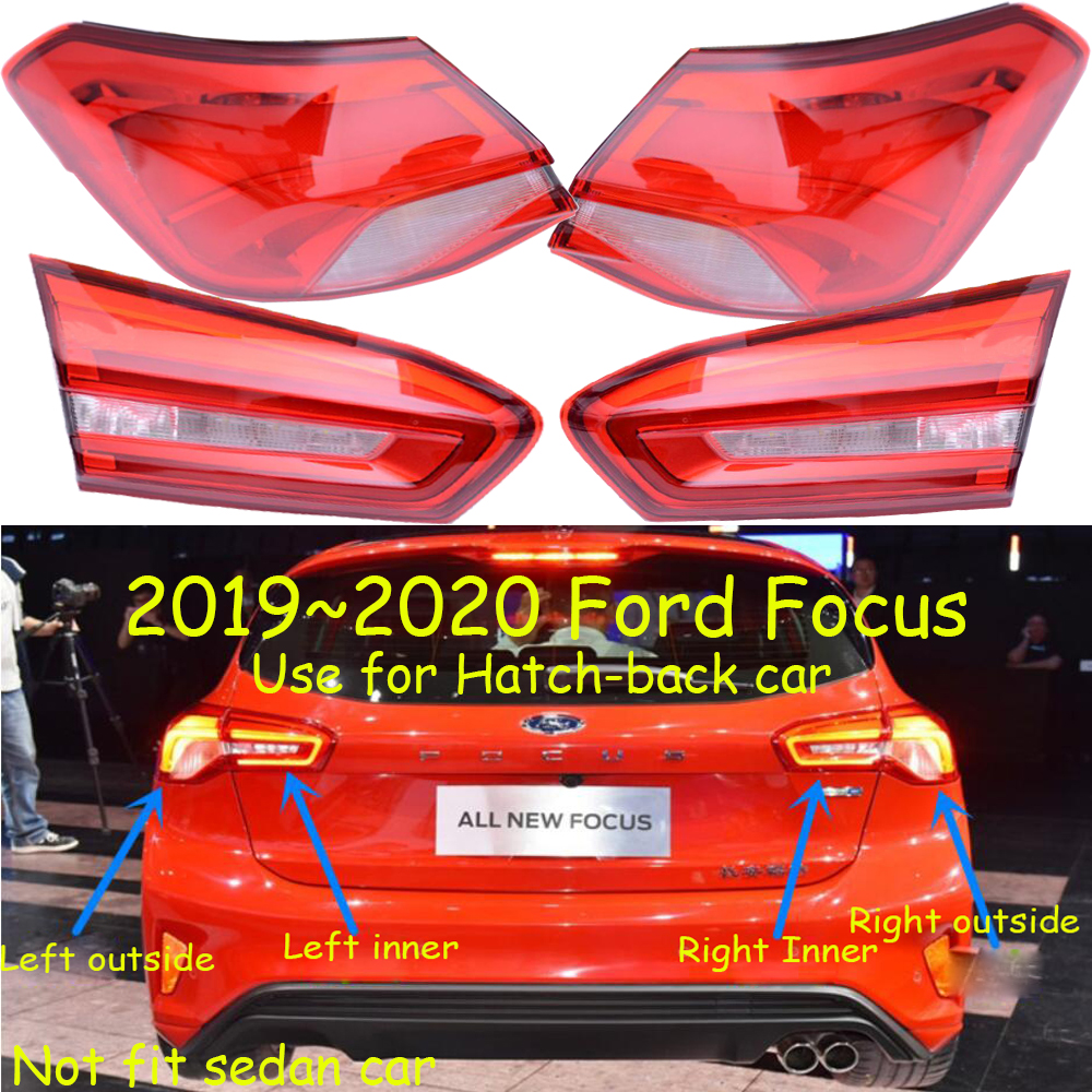1pcs 2019 2020y Tail Light For Focus Taillight Hatch-back Car Accessories LED DRL Taillamp For Focus Fog Light