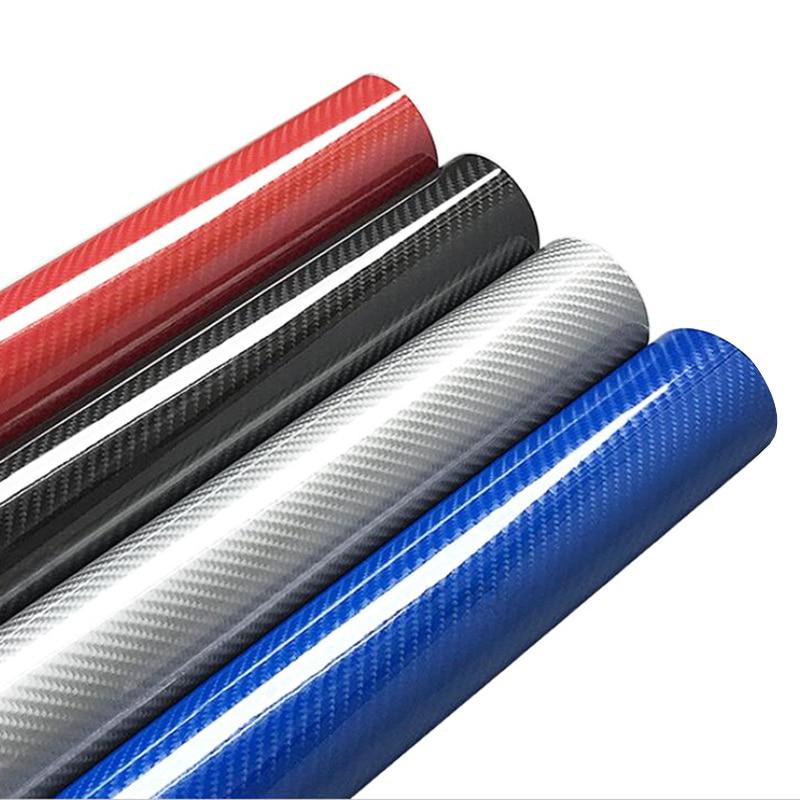 30x100cm 5D High Glossy Carbon Fiber Vinyl Wrap Film Auto Car Truck Interior DIY Decoration Sticker Protector Film Accessories(China)