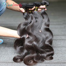 [Rosabeauty] OneCut Hair Body Wave 8-28 30 32inch H Brazilian Raw Virgin Unprocessed Hair Natural Color 100% Human Hair Weaving 4 Bundles Deal(China)