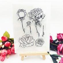 Tampon à rouleau transparent alphabet Rose 10*14CM, tampon clair/silicone, album/production de cartes, meilleure vente
