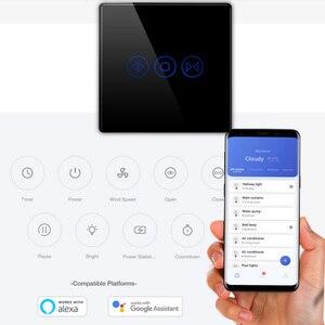 Image 3 - Gratis Verzending Eu Standaard Elektrische Muur Gordijn Controller Smart Home Automation Touch Schakelaar Open Pauze Close Tuya App