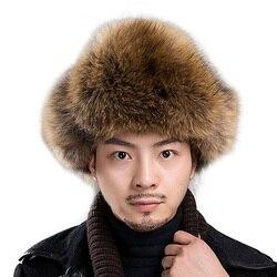 Hot High-end-Luxus Pelz Hut männer Fuchs Pelz Hut Lei Feng Kappe Ohr Kappe Pelz Notwendig Hut