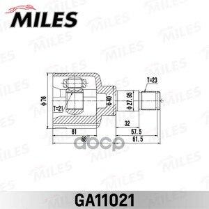 Шрус Miles Ga11021 Ford Focus Cak 1998-2005  Miles арт. GA11021