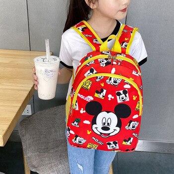 Mochila de Mickey Mouse Minnie de Disney, mochila escolar para estudiantes de secundaria, bolso de hombro informal a la moda, mochila