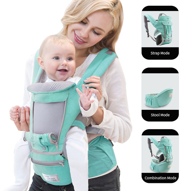 Ergonomic Baby Carrier Infant Kid Baby Hipseat Sling Front Facing Kangaroo Baby Wrap Carrier for Baby Travel 0-36 Months 2