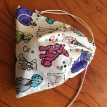 Bag Drawstring Pouch White Cotton Base-Yi093d 1pc Multi-Purpose Twill Party-Gift Dogs