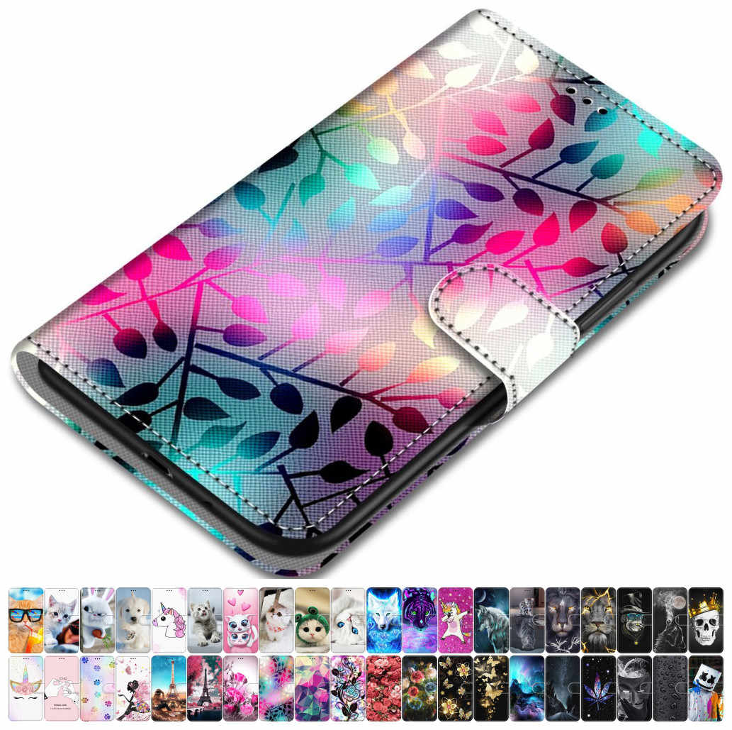 For Case Samsung Galaxy J120 J1 2016 J2 Pro 2018 J2 Prime G532F Grand Prime G530 PU Leather Phone Cover Lovely Girl Boy Box O08F