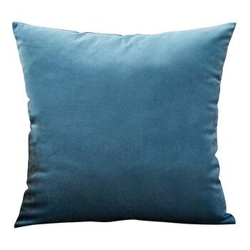 Housse de coussin en velours Bleu canard - 4 Tailles au choix
