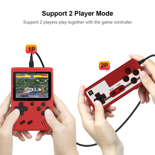 Retro Portable Mini Handheld Video Game Console 8-Bit 3.0 Inch Color LCD Kids Color Game Player Built-in 400 games 4
