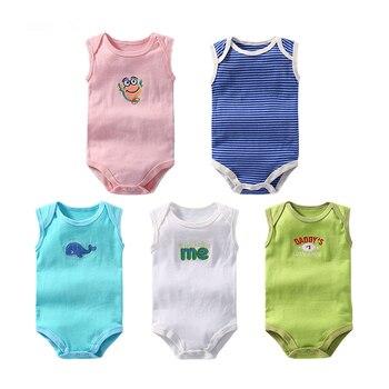 Body de 100% algodón para bebé, ropa de escalada sin mangas, monos...