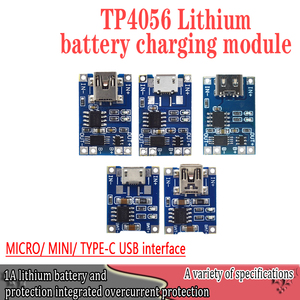 Smart Electronics 5V type-c Micro USB 1A 18650 Lithium Battery Charging Board With Protection Charger Module for Arduino Diy Kit