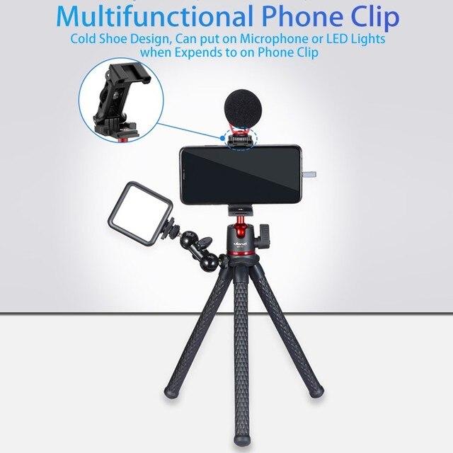 Ulanzi MT-11 Flexible Octopus Tripod for DSLR Smartphone 2 in 1 Tripod Extend 1/4'' Screw for Magic Arm Led Video Light 2