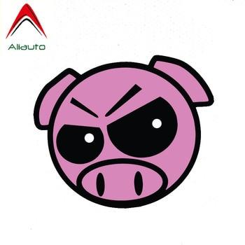 Aliauto Creative Interesting Car Sticker Evil Rally Pig Accessories JDM Waterproof Sunscreen Anti-UV Reflective Decal,13cm*11cm