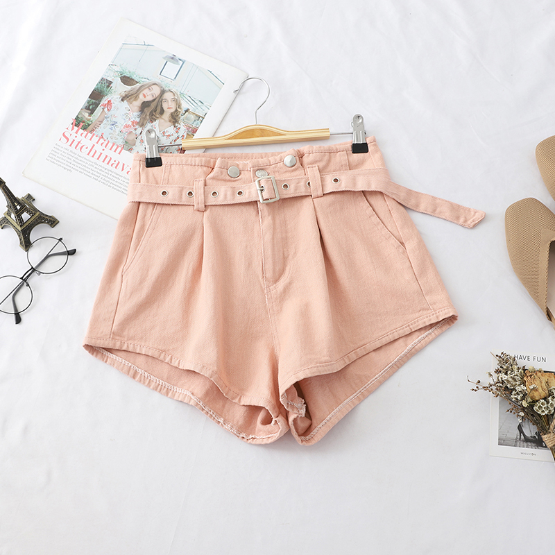2020 New Fashion Women Pocket High Waist With Sashes Shorts Female Casual Button Sexy Hot Shorts