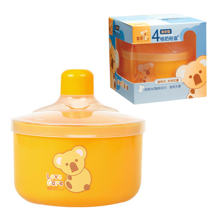 Hito HITO Rotary Four Grid Infant Milk Container Storage Box Small Milk Cans Rice Flour Food Supplement Storage Box