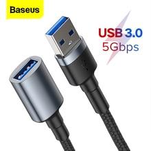 Baseus Cavo di Prolunga USB Tipo A Maschio A Femmina Extender USB 3.0 Cavo Per Smart TV PS4 Xbox SSD 5GB US3.0 di Sincronizzazione di Dati del Legare del Cavo