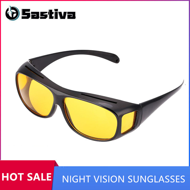 Driving Sunglasses HD Yellow Lens Glasses Fashion Anti Uv Sunglasses Driving Night Vision Polarized Sun Glasses Men Women