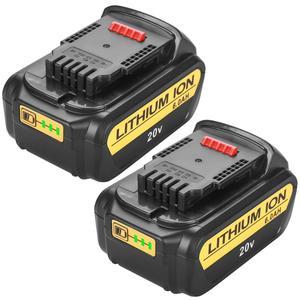 Image 1 - 20V 6000mAh dla obsługi DeWalt DCB200 MAX akumulator elektronarzędzia bateria zastępcza DCB181 DCB182 DCB204 DCB101 DCF885 DCF887