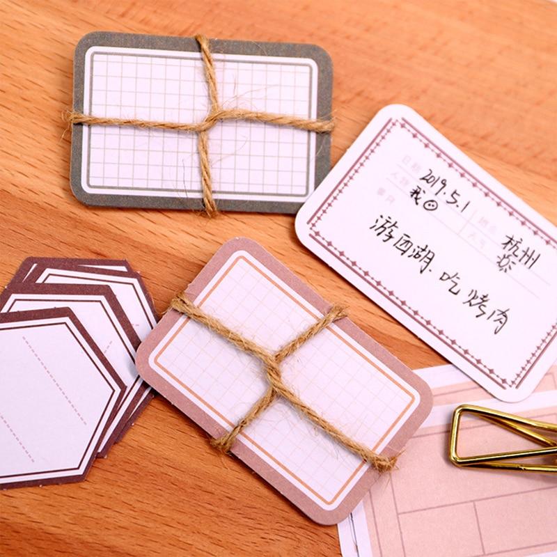 Купить с кэшбэком 50Pcs/pack Vintage Writable Note Sticker Pack Creative DIY Decorative Scrapbook Adhesive Labels Stickers Flakes Journal Supplies