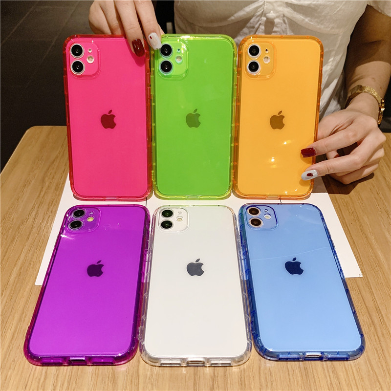 Luxury Phone Case for IPhone SE 2020 7 8 Plus X XR XS 11 Pro Max Silicone Shockproof Case for iphone 11 Transparent Back Cover