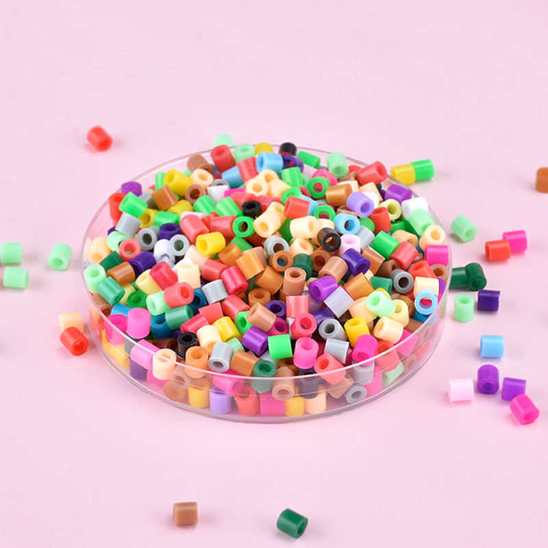 200PCS/Tas 5.0 Mm Hama Manik-manik Diy Puzzle Anak-anak Menyenangkan DIY Handmaking Kecerdasan Pendidikan Kualitas Tinggi Hadiah Mainan Besi Manik-manik