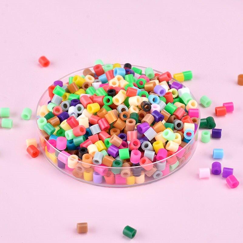 200pcs/bag 5.0 mm Hama Beads Diy Puzzles Kids Fun DIY Handmaking Intelligence Educational High Quality Gift Toys Iron Beads