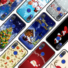 Black Silicone Cover Merry Christmas for Xiaomi Redmi Note 8 7 6 5 4X 4 K20 Pro 7A 6A 6 S2 5A Plus Phone Case black silicone cover new year gifts christmas for xiaomi redmi note 8 7 6 5 4x 4 k20 pro 7a 6a 6 s2 5a plus phone case