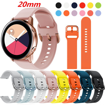 For Huawei Watch gt 2 strap FOR Samsung Galaxy Watch Active 2 galaxy watch band 3 41mm 42mm bracelet band 42mm 20mm active2 40mm 20mm watch strap for samsung galaxy watch active sports silicone replacement band for samsung galaxy watch 42mm bracelet belt