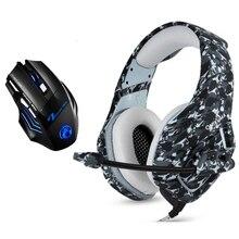 Камуфляжные Игровые наушники для PS4, проводные стерео басовые наушники 3,5 мм, шлем с микрофоном и игровые мыши для PS4, ПК, геймеров, XBOX