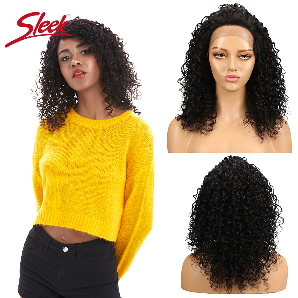 Sleek Curly Short Human Hair Wig 100% Remy Brazilian Hair Wigs 4X4 Lace Wigs Natural Color Curly Wig 150% Density Wigs Real Wigs