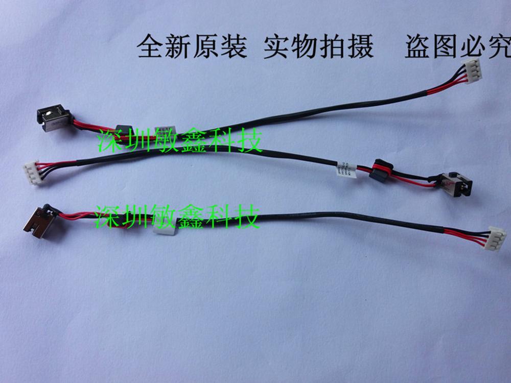 Разъем питания постоянного тока для Lenovo G470 G475 G570 Y480 G480 w/кабель