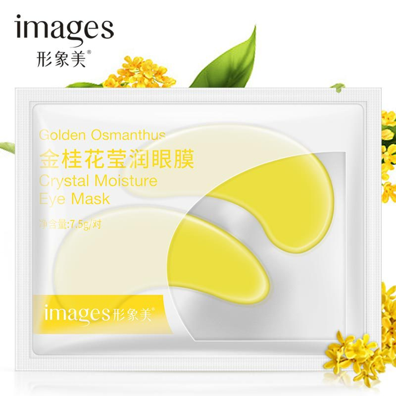 1Pcs Golden Osmanthus Crystal Collagen Gold Eye Mask Anti-Aging Dark Circles Acne Beauty Patches For Eye Skin Care Korean Cosmet