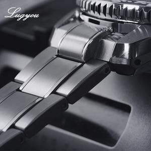 Image 4 - Lugyou San Martin ชายนาฬิกาอัตโนมัติ NH35 สแตนเลสสตีลหมุน BEZEL SLN C3 300M ทน