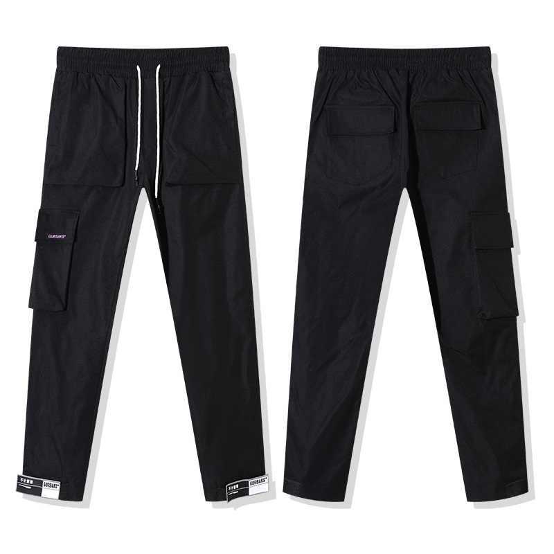 2020 musim gugur Streetwear pria Multi Saku Kargo Harem Celana Hip Hop Kasual Pria Celana pendek celana Panjang Jogger Harajuku Pria celana