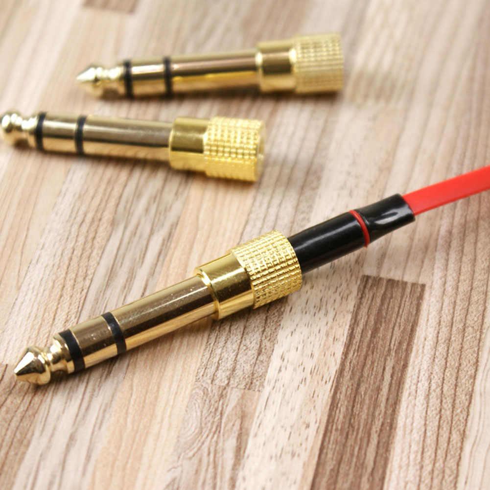 Nowa wtyczka konwersji Audio 6.5mm do 3.5mm przejściówka konwertera Audio konwerter głowicy #2
