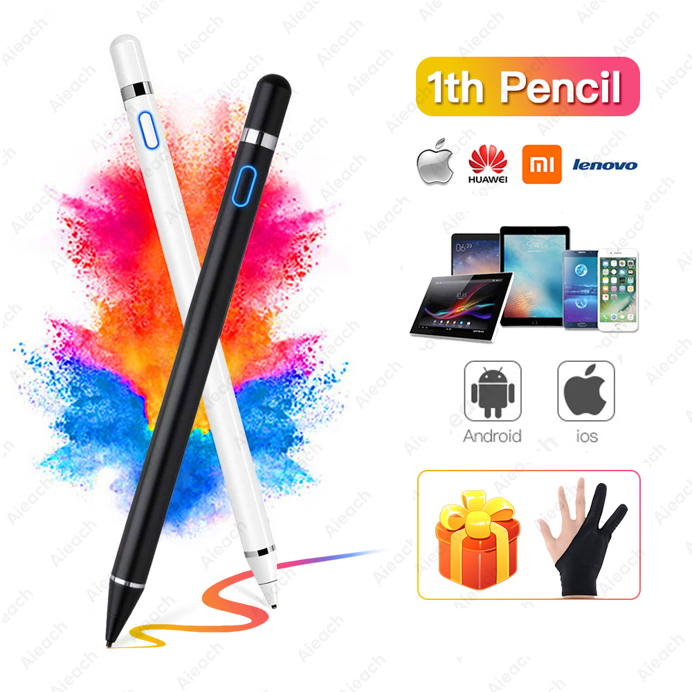 Для Apple Pencil 1 2 iPad ручка сенсорная для планшета мобильный IOS Android стилус ручка для телефона iPad Pro Samsung Huawei Xiaomi карандаш