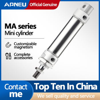 цена на Free shipping stainless steel MA type 16/20/25/32/40 mm Bore 25/50/75/100/125/150/175/200/250/300 mm stroke pneumatic cylinder